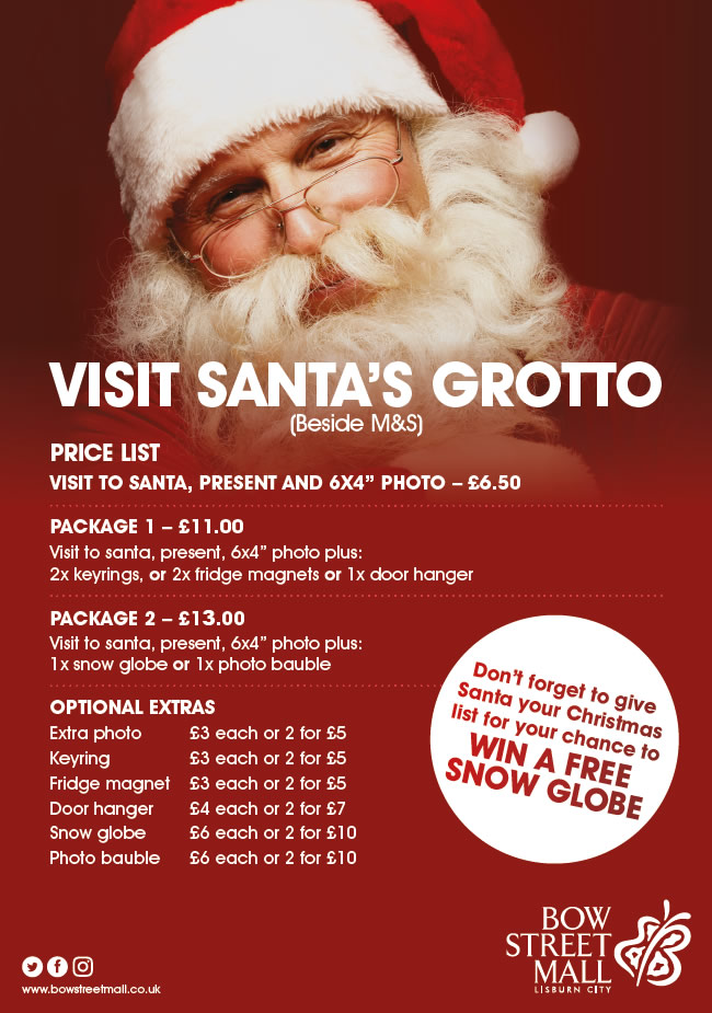 Bow Street Mall Santa's Grotto Prices