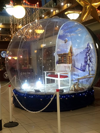 Visit the Snow Globe at Bow Street Mall