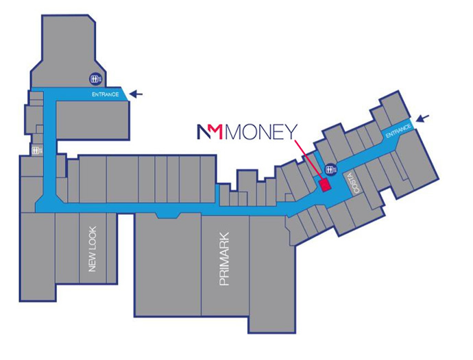 NM Money location in Bow Street Mall Lisburn