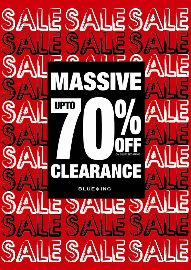 Blue Inc 70% Off Clearance Sale at Bow Street Mall Lisburn