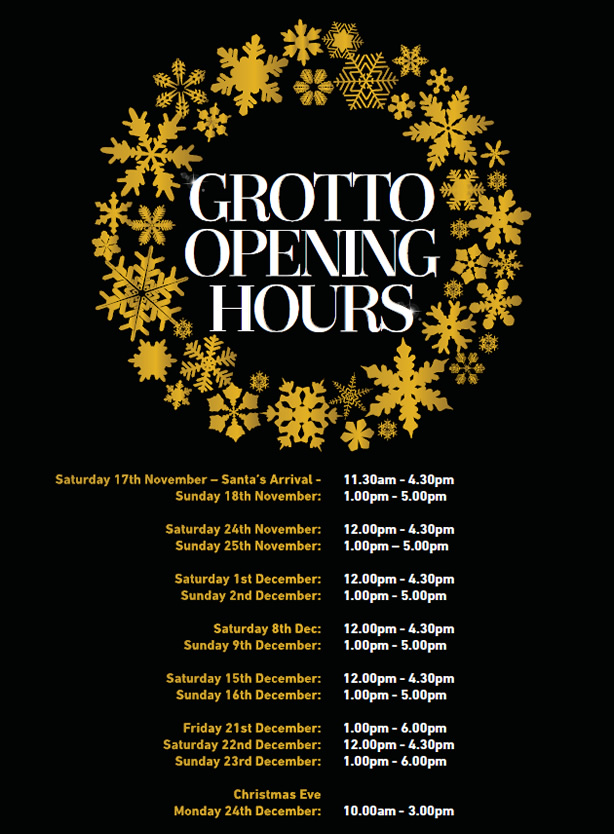 Santas Grotto Opening Hours